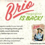 Anxious, overbearing parents glad for return of 'Brio'