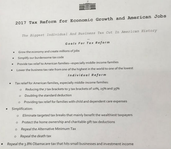 Trump Requests Extension For Tax Reform Plan