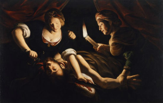 """Judith Decapitating Holofernes"" Trophime Bigot, ca. 1640"