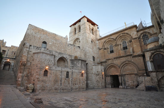 The Church of the Holy Sepulchre (Wikimedia Commons photo by Jlascar)