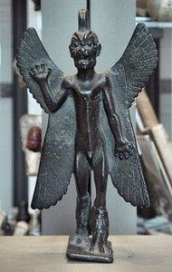 Image of the Assyrian demon Pazuzu