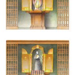 Proposed shrines to Pope St JP2 and St Faustina. Artwork and Design by Matthew Alderman