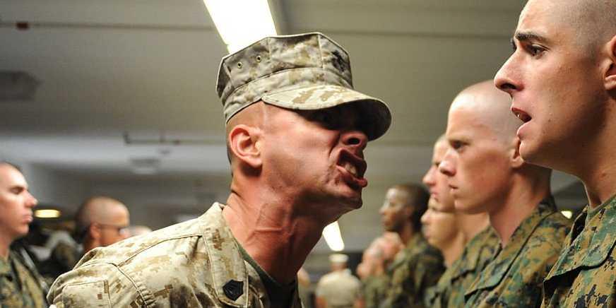 R Lee Ermey Yelling Marine Drill Sergeant ...