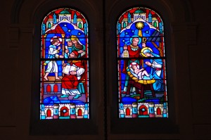 Clerestory Windows - Nativity and Presentation in the Temple