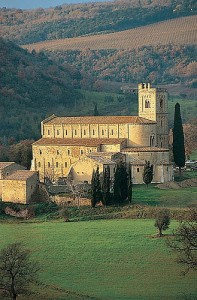 The Abbey of St Antimo, Tuscany, Italy