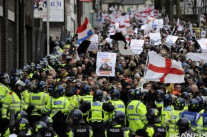 UK Right Wing Protestors