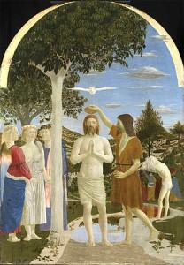 Baptism of Christ by Piero della Francesca - National Gallery, London