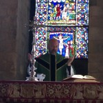 Celebrating Mass in the Crypt of Canterbury Cathedral
