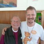 Episcopal Bishop Gene Robinson with a friend