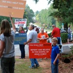 Protesters outside Greenville's Abortion Mill