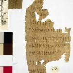 Papyrus in the Rylands Library, Manchester UK