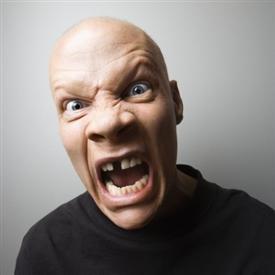 bald angry guy