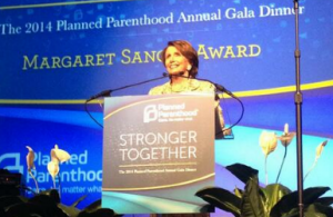 Nancy Pelosi accepts the Planned Parenthood Margaret Sanger Award