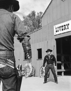 Cowboy showdown --- Image by © H. Armstrong Roberts/CORBIS
