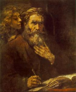 St Matthew by Rembrandt