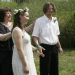 Performing a handfasting wedding