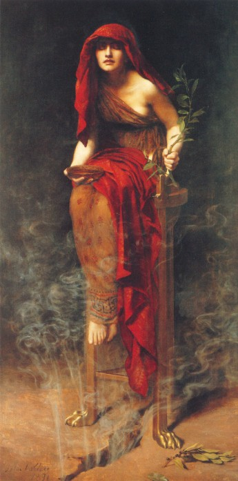 Priestess of Delphi, by John Collier, Wikimedia Commons