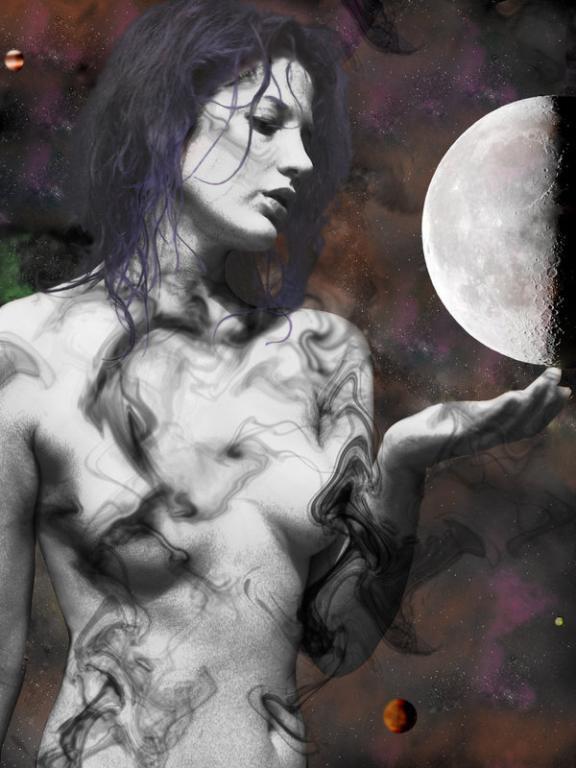 moon dark goddess pagan wiccan woman