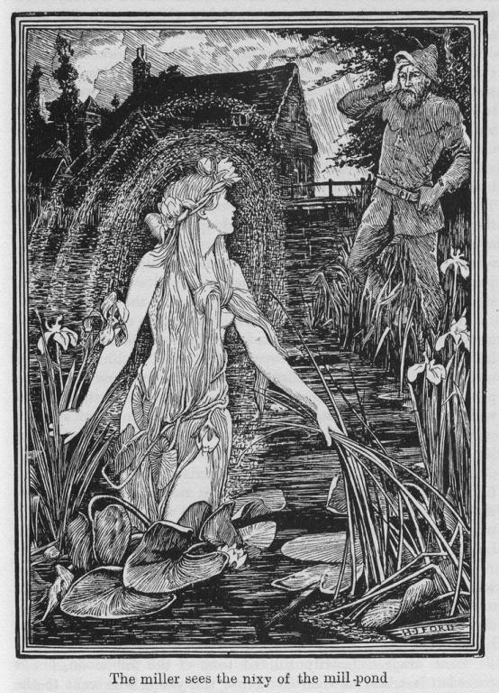 nix faery fae water spirit fairy tale pagan wiccan