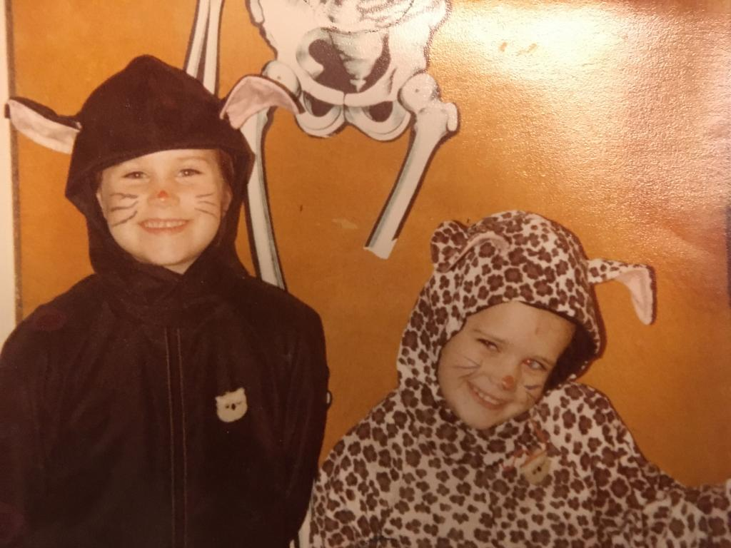 Me and my sister on Halloween. All rights reserved to the author.