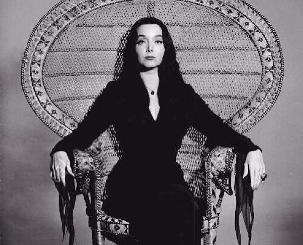 morticia addams witch pagan wiccan goth