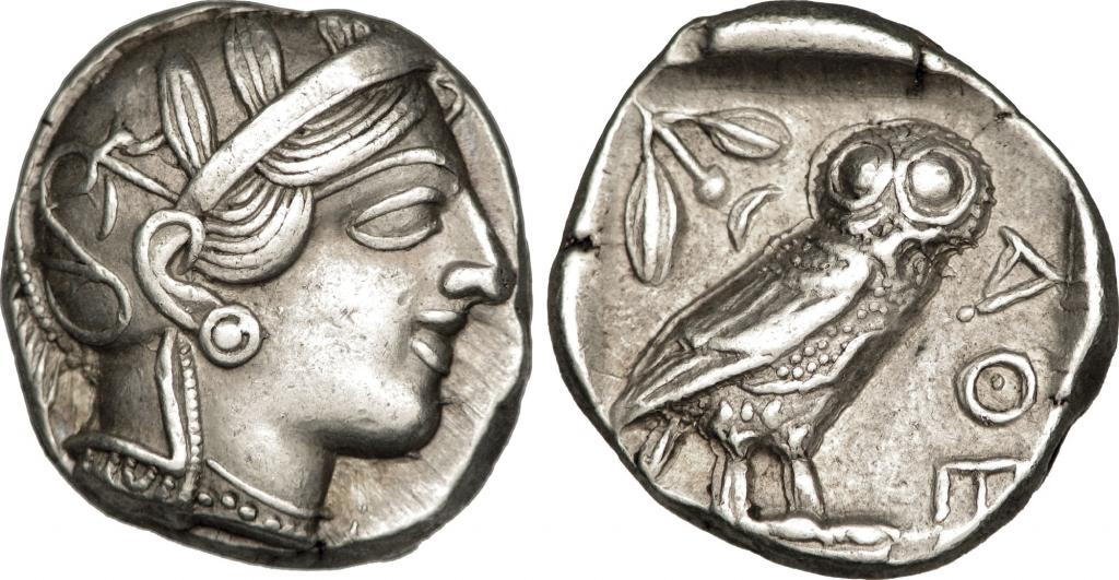 Athena coin, from Wikimedia.