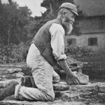 The Old Brick Layer. Photograph by Gertrude Jekyll. Old West Surrey (1904).