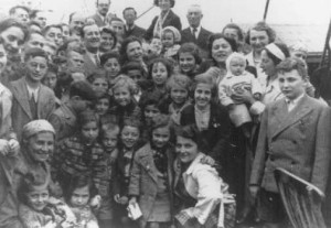 """Passengers aboard the """"St. Louis."""" These refugees from Nazi Germany were forced to return to Europe after both Cuba and the US denied them refuge. May or June 1939."""