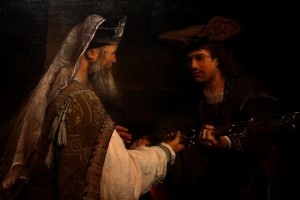 Ahimelech Giving the Sword of Goliath to David - by Arent de Gelder