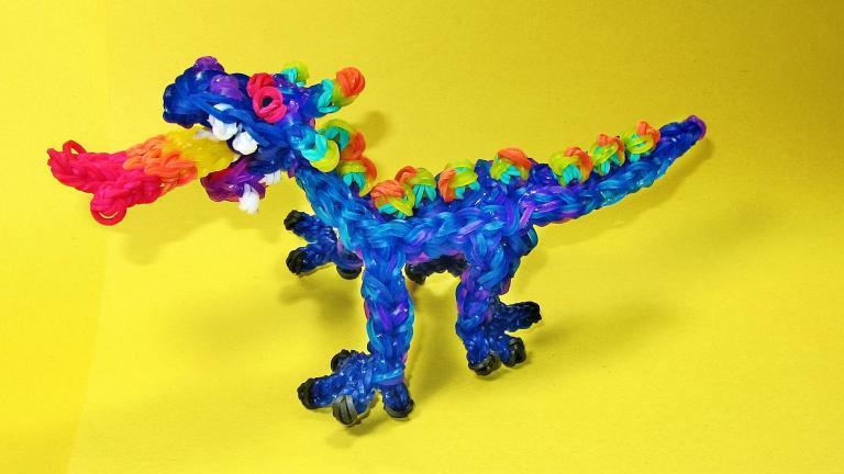 Как сделать из резинок дракона на рогатке