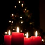 """Advent candles symbolizing John 1:5 - """"The light shines in the darkness."""" (Copyright: martinan / 123RF Stock Photo )"""