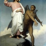 """""""The Temptation of Christ"""" by Ary Scheffer"""