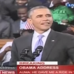 President Obama speaking in Kenya (Photo: Screenshot from Youtube, KTN News Kenya)