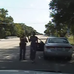 Sandra Bland being arrested. (Photo: Screenshot from YouTube)