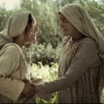 Mary visits Elizabeth (Screenshot from YouTube)