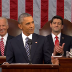 Image: President Obama deliver his State of the Union, 2016. Screenshot from YouTube.