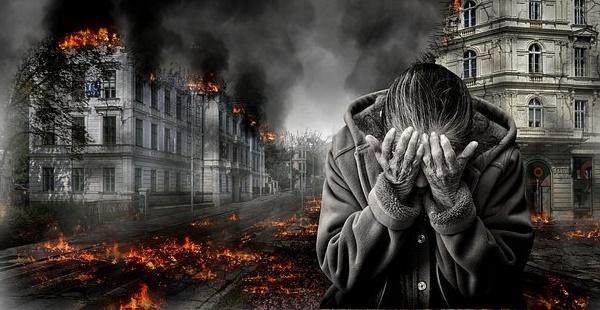 War Destruction Despair Fear Kummer Helplessness