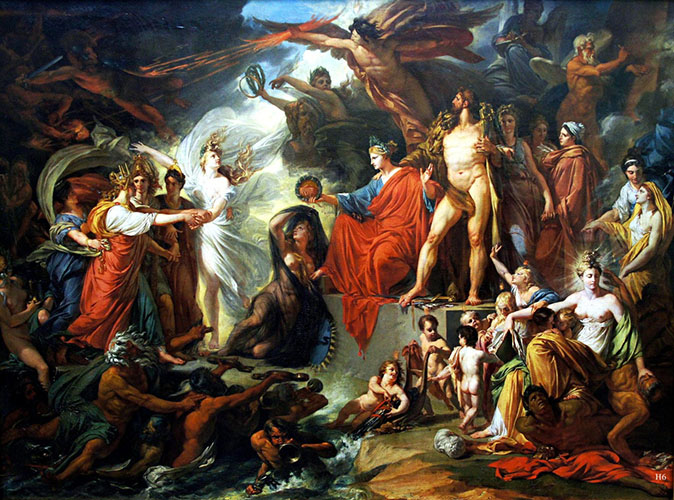 The Triumph of Civilization, 1793. Painting by Jacques Réattu 1760-1833