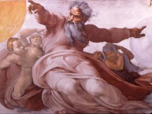 Michaelangelo's God
