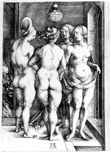 """The Four Witches"" - etching by Albrecht Dürer"