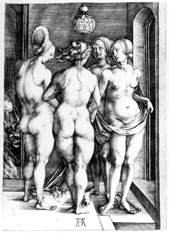 """""""The Four Witches"""" - etching by Albrecht Dürer"""