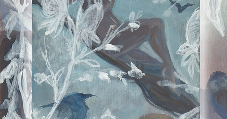 "Detail from the author's painting ""Ride to the Sabbat"" from the Iconomag Series"