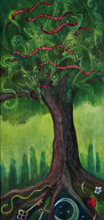 """The Walnut Tree of the Benevento"" - painting by Laura Tempest Zakroff"