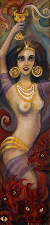 """Jezebel"" - painting by Laura Tempest Zakroff (2015)"