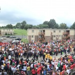 Crowds in Ferguson