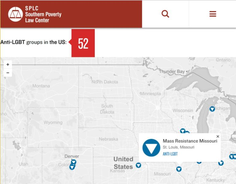 Active Hate Groups In The United States In Southern Poverty - Map of hate groups in us
