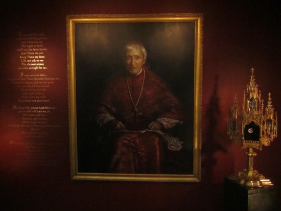 Chapel Shrine of Bl. John Henry Newman, Oratory Church of St. Boniface, Brooklyn. Image mine
