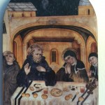 My Icon of Benedict and Scholastica from the still brilliant fresco at Subiaco.