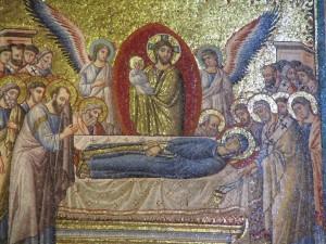 Mosaic, Santa Maria in Trastevere, Roma/Elizabeth Scalia