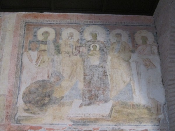 Recently uncovered 6th Century Fresco, Basilica Santa Sabina, Roma/Elizabeth Scalia